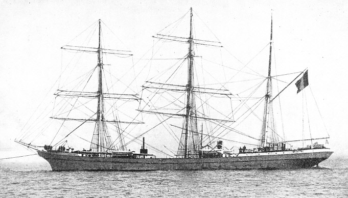 A FRENCH THREE-MASTED BARQUE, the Charles Gounod, was sunk by Count von Luckner in the Seeadler