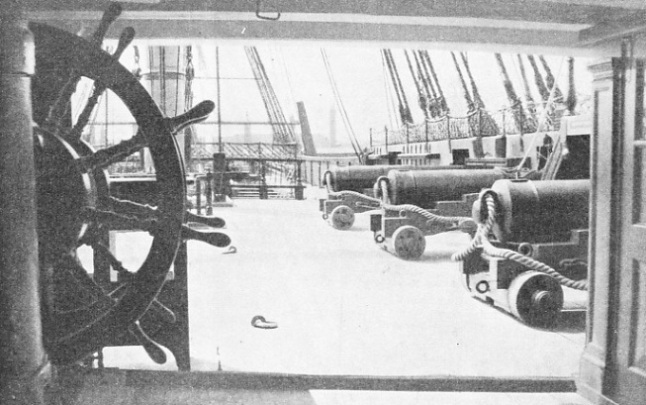 THE QUARTER DECK OF HMS VICTORY