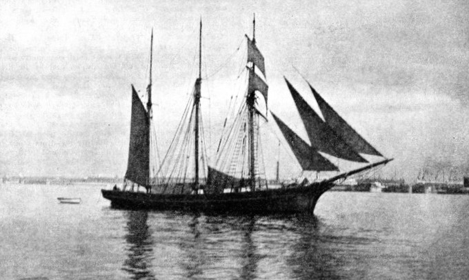 The three-masted Jane Banks leaving Liverpool
