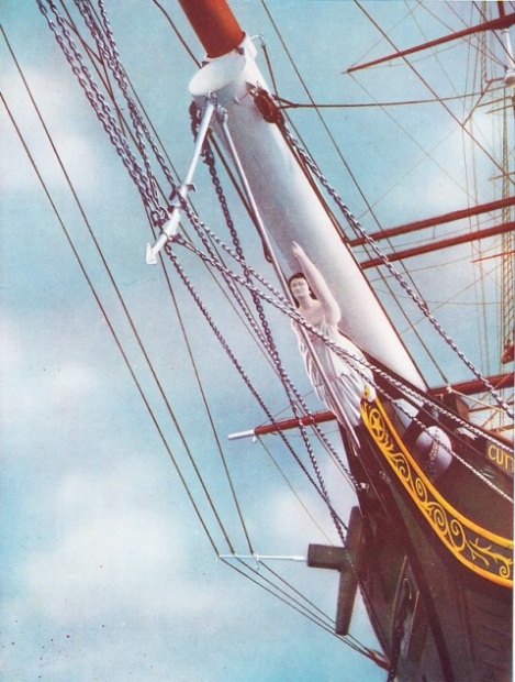 "The figurehead of the ""Cutty Sark"""