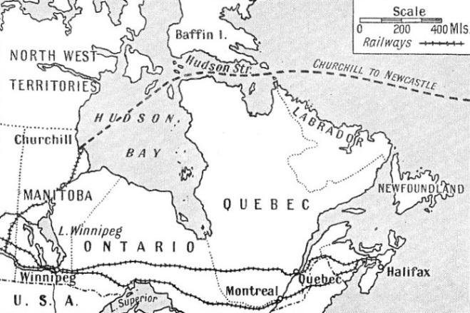 THE HUDSON BAY ROUTE to the prairie belt and Western Canada