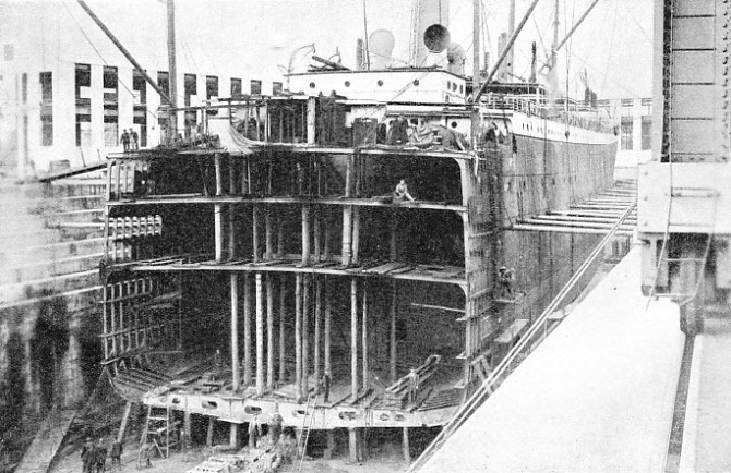 As soon as the stern of the Suevic was salvaged a new bow was ordered from Harland and Wolff