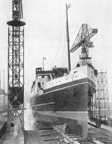 The launch of the Duke of York in March, 1935