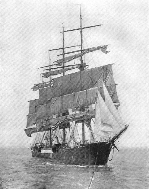 "The German four-masted barque ""Padua"""