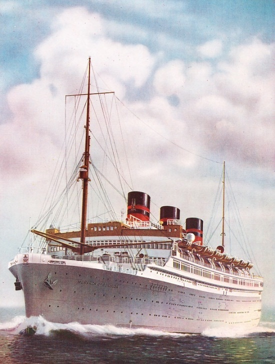 The Monarch of Bermuda, the Furness Withy liner, of 22,424 tons gross