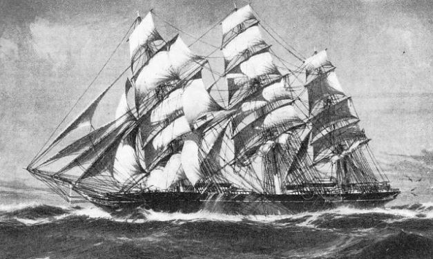 THE MOST FAMOUS CLIPPER of them all, the Cutty Sark