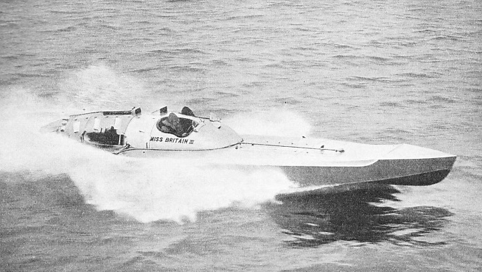 At the beginning of 1936 the world's fastest single-engined boat was Miss Britain III