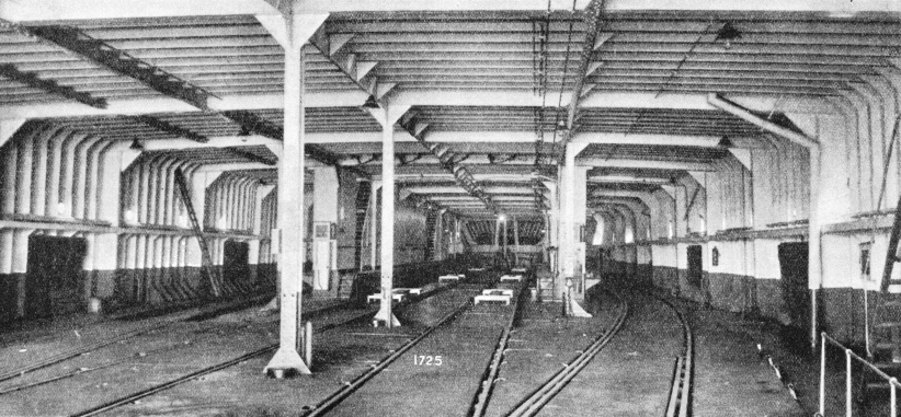 Four railway tracks occupy the main deck of the Dover Dunkirk ferries