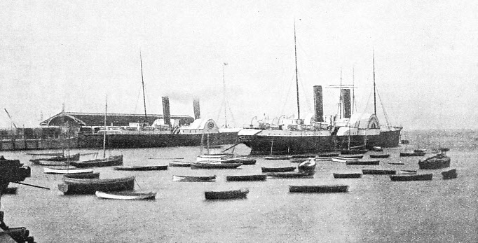 TWO FAMOUS IRISH CROSS-CHANNEL PACKETS at Holyhead