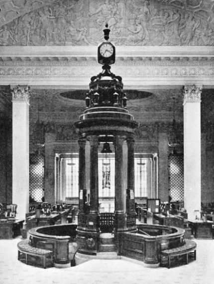 SUSPENDED IN THE ROSTRUM, in the Underwriting Room at Lloyd's, is the famous Lutine bell