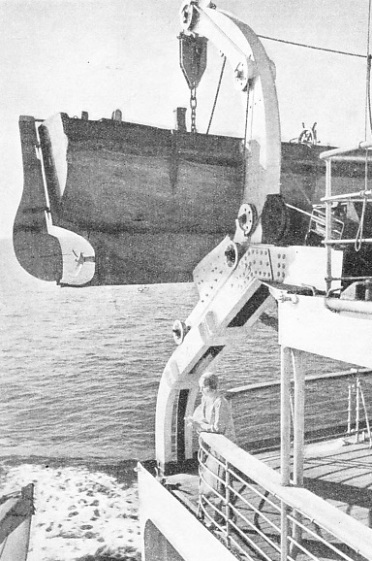 SPECIAL UNSINKABLE LIFEBOATS form part of the equipment of the Bremen and the Europa