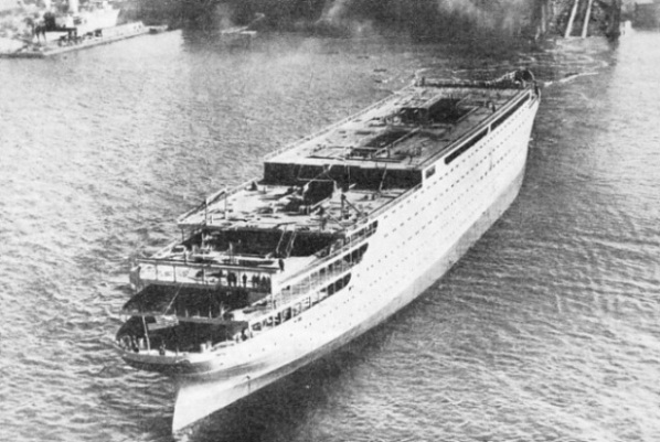 "The launch of the ""Manhattan"""