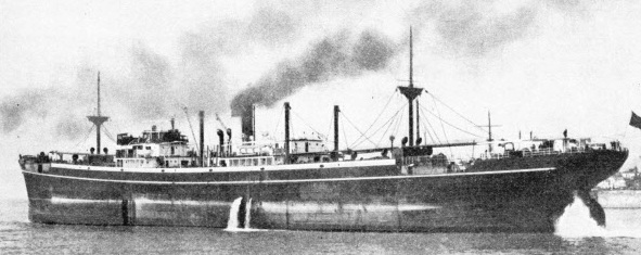 "The ""Avala"" in ballast"