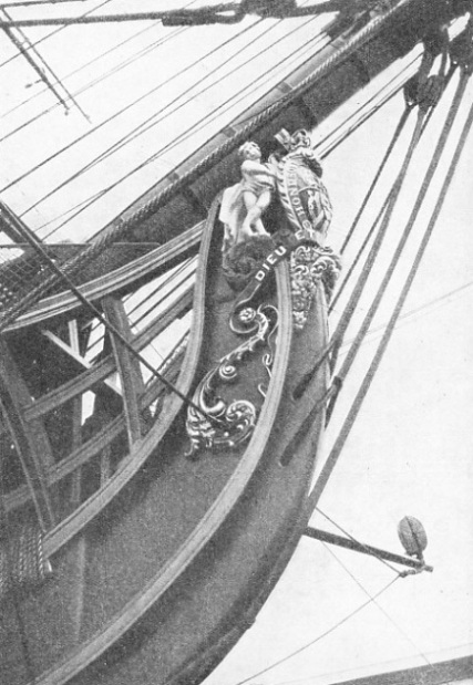 THE FIGUREHEAD on the bow of HMS Victory