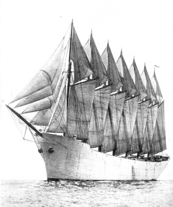 THE ONLY SEVEN-MASTED SCHOONER IN THE WORLD the Thomas W Lawson