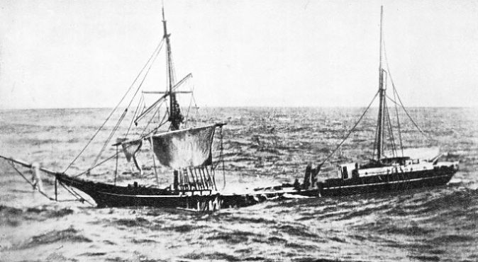 A DERELICT BARQUE, the Edward L. Maybury photographed in the North Atlantic
