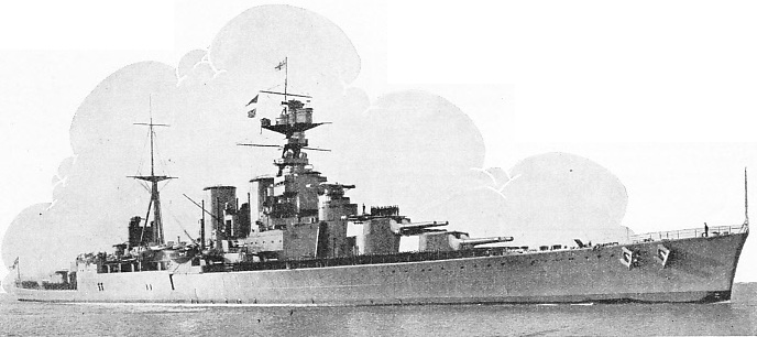 THE WORLD'S LARGEST BATTLE CRUISER, H.M.S. Hood, was built by John Brown & Co