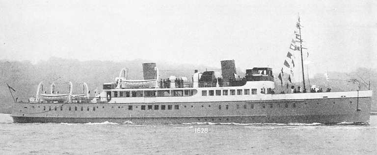 THE FIRST BRITISH DIESEL-ELECTRIC PASSENGER VESSEL was the Lochfyne, built at Dumbarton in 1931