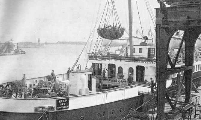 Loading the Continental mail at Dover.