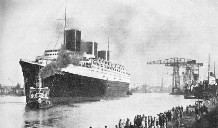 The Normandie leaving port