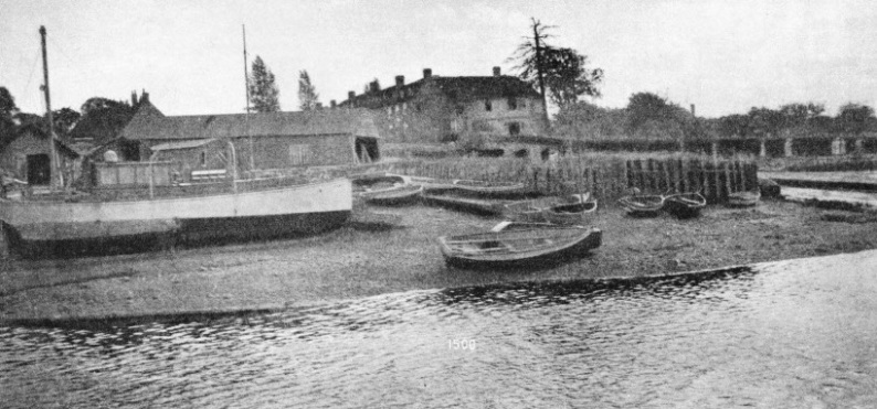 THE OLD SLIPWAYS AT BUCKLER'S HARD were situated where the village street runs down to the Beaulieu River
