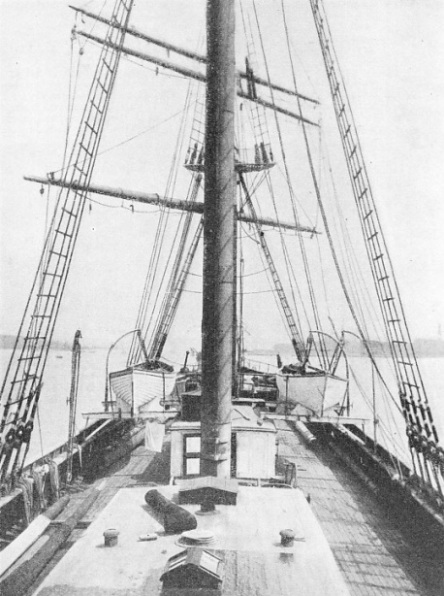 A view of the deck of the Cutty Sark