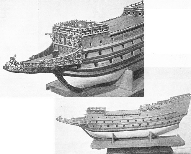 THE SOVERAIGNE OF THE SEAS - a fine though unfinished model of this ship