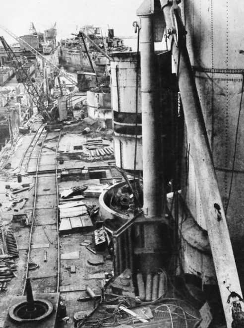 HMS Orion and HMS Erin being scrapped