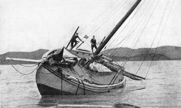 "The ""Teddy"", beached for repairs in the Bay Of Islands"