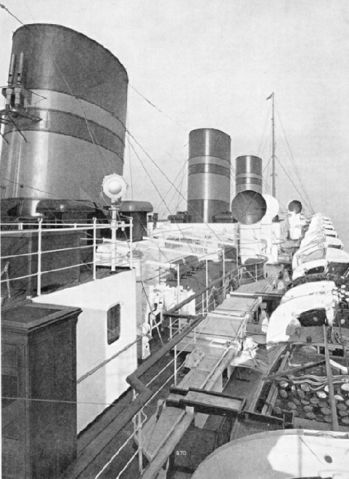 "The boat deck of the ""Monarch of Bermuda"""