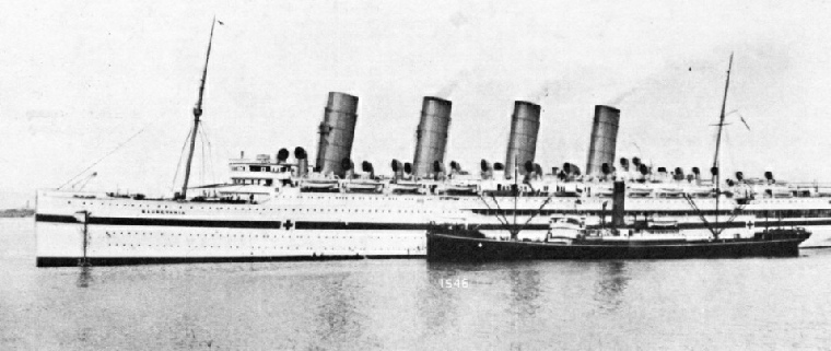 The Mauretania as a Hospital Ship