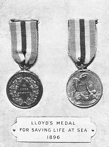 Lloyd's medal for saving life at sea 1896