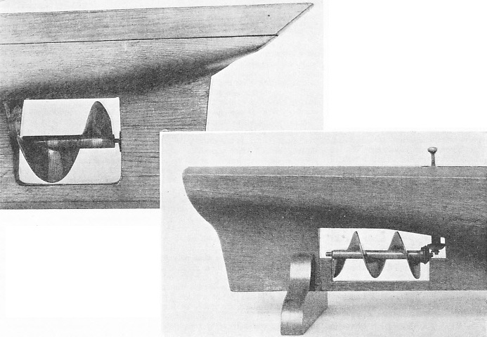 THE ORIGINAL FORM of the screw propeller patented by Sir Francis Smith