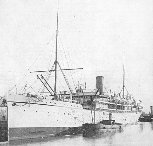 CONVERTIBLE FOR USE AS A PASSENGER VESSEL, the P. and O. liner Assaye