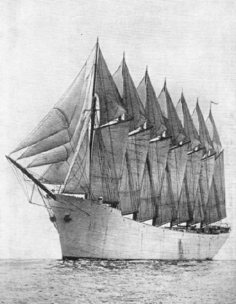 "The ""Thomas W Lawson"", the only seven-masted schooner in the world"