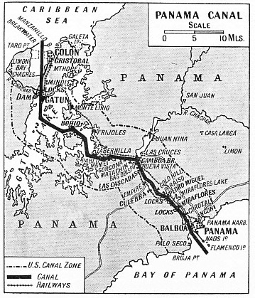 A SCALE MAP of the Panama Canal