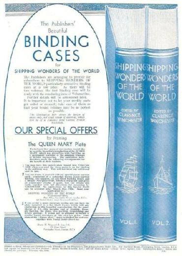 shipping wonders of the world binding cases